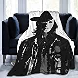 Blanket Super Soft and Lightweight Flannel Fleece Blanket The Walking Dead Carl Grimes Profile Suitable for All Seasons, Sofas, beds, Children's Adult Blankets 50x40 inches
