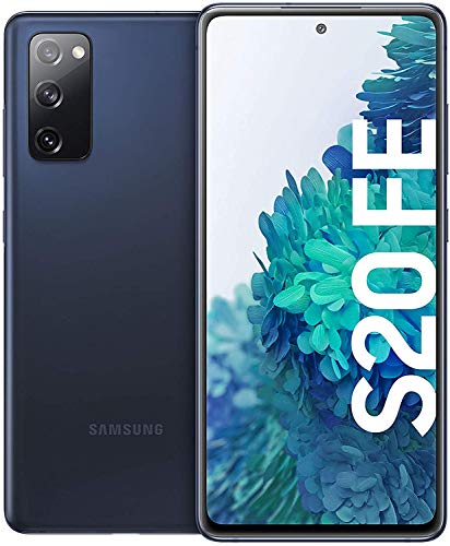 Samsung Galaxy S20 FE, Android Smartphone ohne Vertrag, 6,5 Zoll Super AMOLED Display, 4.500 mAh Akku, 256 GB/ 8 GB RAM, Handy in Dunkelblau inkl. 36 Monate Herstellergarantie [Exklusiv bei Amazon]