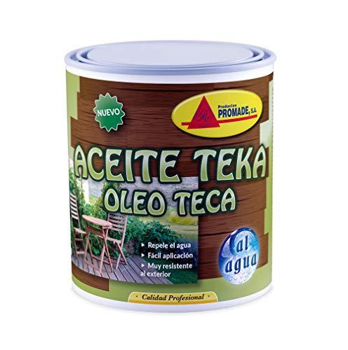 Promade – Aceite Teka al Agua Incoloro- Nutre, Cuida y Protege Maderas de Exterior – 750 ML
