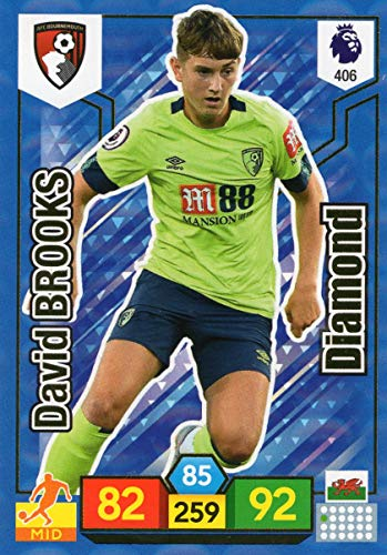Adrenalyn XL PREMIER LEAGUE 2019/20 DAVID BROOKS DIAMOND TRADING CARD - BOURNEMOUTH