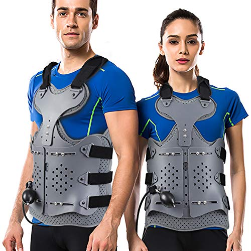 TLSO Inflatable Thoracolumbar Fixed Spinal Brace,Lightweight & Adjustable Back Brace for Kyphosis,Osteoporosis,Mild Scoliosis & Post Surgery Support, Hunchback with Built-in Inflatable Airbag