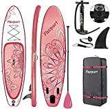"""FBSPORT Stand Up Paddle Board, SUP Board, Inflatable Paddle Boards 6"""" Thick, All-around Paddle Board Kit: Aluminium Paddle, Pump, Backpack, Ankle Leash, Complete Accessories 