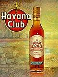 Havana Club Póster de Pared Metal Creativo Placa Decorativa Cartel de Chapa Placas Vintage Decoración Pared Arte Muestra para Bar Club Café