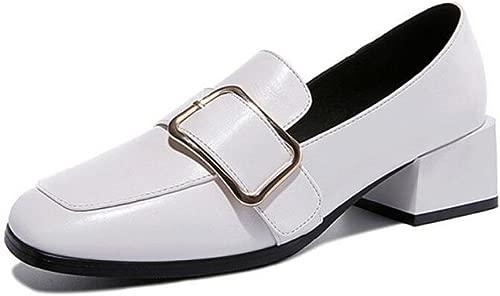 JQNSX Damenschuhe Leder Für Frühling Und Sommer Koreanischen Casual Fashion Wasserdichte Dicke Schuhe