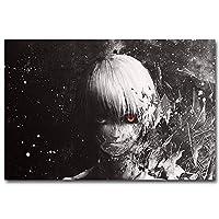キャンバスプリントアートウォール1パネル東京グールアニメ アートパネル 壁掛け 壁の写真を絵画 ポスター キャンバス絵画 家の部屋装飾 フレーム付き 50x70cm