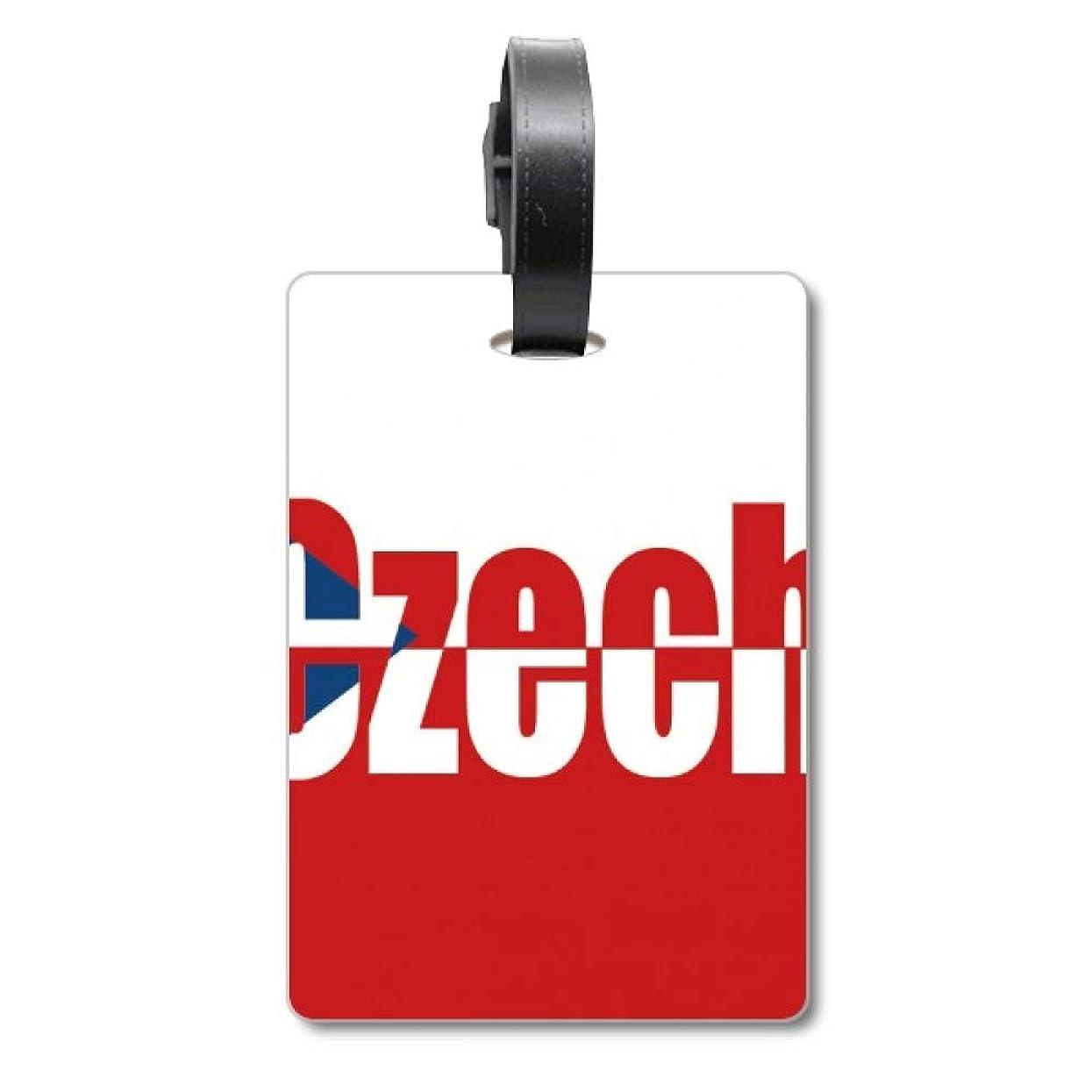 セール提案ローンチェコの国の旗の名 旅行カバンのタグ旅行者の識別標識