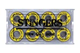 Yellow Jacket Premium Premium Skateboard Bearings, Pro Longboard Bearings, 608, ABEC 11, Black Mamba (Pack of 8)