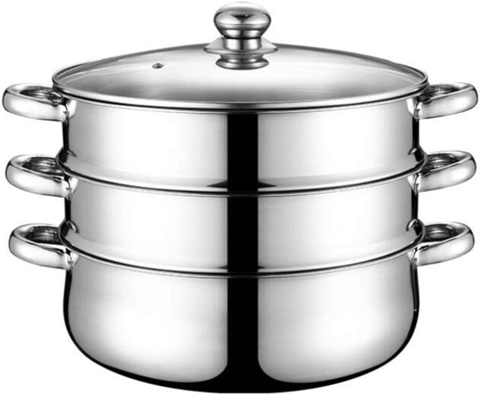 Time sale Cabilock Stainless Steel 3 Tier Steamer Pot Steaming Set specialty shop Stockpo
