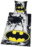 Batman Comic Unisex Ropa de Cama Blanco/Amarillo/Negro Komfort, 100% algodón,