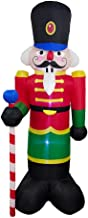 ALEKO CHID001 Giant Inflatable Nutcracker with UL Certified Blower and LED Lights Holiday Christmas 8 Foot