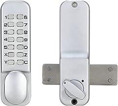 Kast deurslot Mechanische Digitale Deurslot Drukknop Keyless Code Combinatieslot Set Waterdicht en Roestvrij Slijtvast en ...