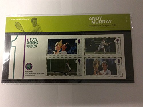 Andy Murray 2013 Wimbledon Tennis Champion (Presentation Stamp Pack AP379) by Royal Mail