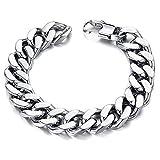 Moneekar Jewels Stainless Steel Silver Link Chain Bracelets for Men