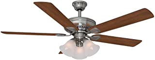 Hampton Bay 41359 Campbell 52 in. LED Indoor Brushed Nickel Ceiling Fan with Light Kit