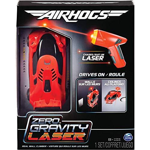 Air Hogs 6054126 - Zero Gravity Laser Racer, Rennwagen mit Laser - Fernsteuerung, fährt an Wänden und Decken, rot