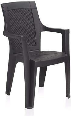Restomatt Mistique Armchair (Plastic, Black)