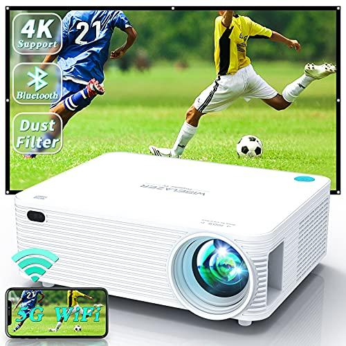 WISELAZER Outdoor Projector WiFi Bluetooth 4k Projector 9500Lm Native...