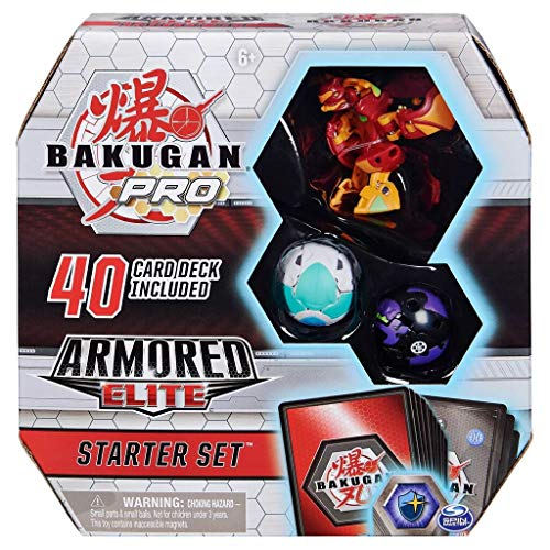 Bakugan Pro, Armored Elite Starter Set with Transforming Creatures, Pyrus Batrix, for Ages 6 & Up