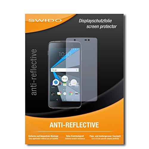 SWIDO Schutzfolie für BlackBerry DTEK50 [2 Stück] Anti-Reflex MATT Entspiegelnd, Hoher Festigkeitgrad, Schutz vor Kratzer/Bildschirmschutz, Bildschirmschutzfolie, Panzerglas-Folie