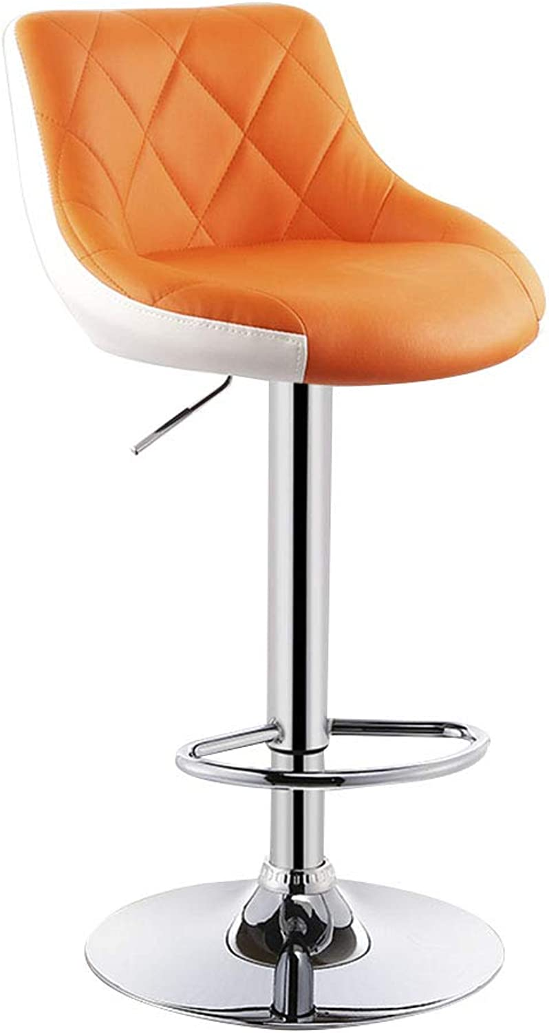 Bseack Swivel Chair Chair, Lifting Swivel Chair Increase The Chassis Raise The Backrest Ergonomic Design High Chair Bar Chair Multiple Colour (color   G)