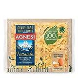 agnesi fettuccine all'uovo | pasta all'uovo festaiola | confezione compostabile da 250 grammi