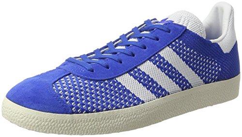 adidas Gazelle Primeknit, Zapatillas para Hombre, Azul (Blue/Footwear White/Chalk White), 42 2/3 EU