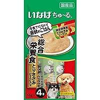 【セット販売】いなば 犬用ちゅ~る 総合栄養食 とりささみビーフ入り (14g×4本)×6コ[ちゅーる]