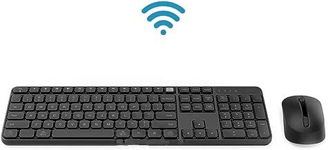 KLZCBAAB لوحة مفاتيح مكتب لاسلكية وماوس ضبط 104 لوحة مفاتيح USB محمولة مقاومة للماء