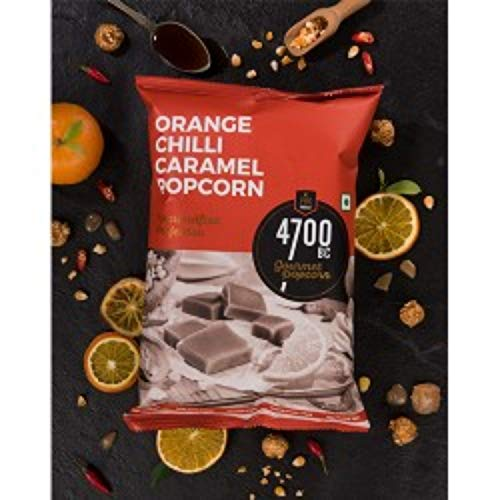 4700BC Orange Chilli Caramel Popcorn, Pouch, 60g +15g extra (Pack of 4)