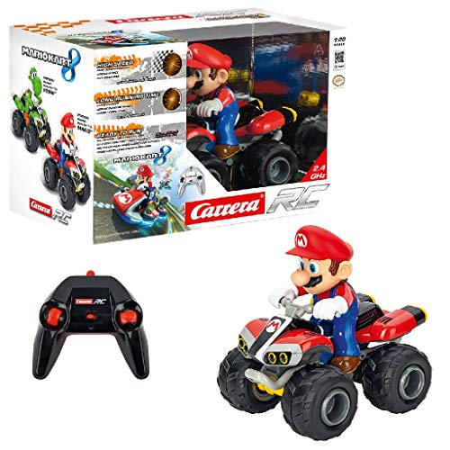 Carrera RC Mario Kart – Voiture radiocommandée – Quad téléguidé avec piles intégrées – Pour enfants à partir de 6 ans