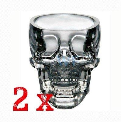CoolChange 2x Totenkopf Skull Schnapsgläser Stamperl Titelbild