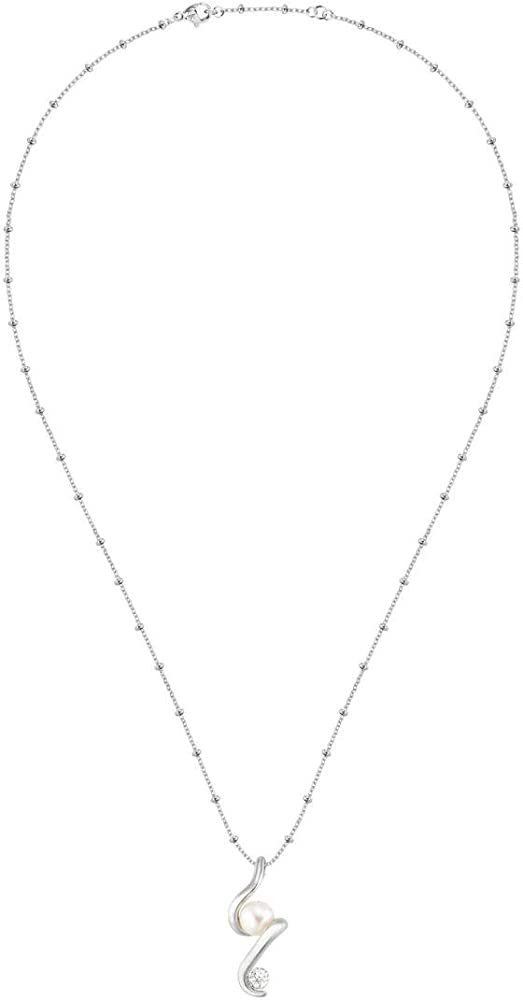 Morellato,  collana da donna,in acciaio, perle coltivate e cristalli SAET10