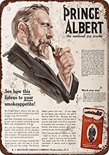 1916 Prince Albert Crimp Cut Pipe and Cigarette Tobacco Vintage Look Reproduction Metal Tin Sign 8X12 inches