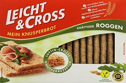 Leicht & Cross kräftiger Roggen Knusperbrot, 1er Pack (1x 125 g Packung)