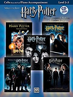 Harry Potter Instrumental Solos for Strings (Movies 1-5): Cello, Book & CD (Pop Instrumental Solos Series)