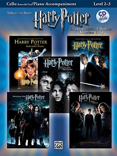 Selections from Harry Potter Movies 1-5, w. Audio-CD, for Cello and Piano Accompaniment (Harry Potter Instrumental Solos (Movies 1-5): Level 2-3) (Pop Instrumental Solo Series)