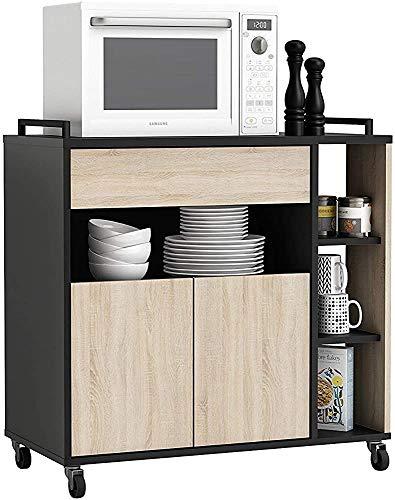 Hilfsküchenkabinett, Schwarz- und Eiche-Farbmikrowellen-Hilfsküchenkabinett 80x76cm,Black oak