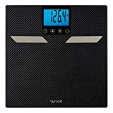 Taylor Precision Products Taylor Body Composition 440lb Capacity with Body Fat, Body Water, Muscle Mass, Bone Mass, Bmi & Cal-Max/Carbon Finish