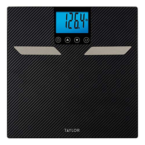 Taylor Precision Products Carbon Taylor Composition 440lb Capacity Fat, Body Water, Muscle, Bone Mass, Bmi & Cal-Max Finish, One Size