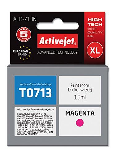 ActiveJet EBA-713N-Cartuccia d'inchiostro per stampanti Epson T713, magenta