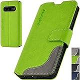 elephones® Handyhülle für Samsung Galaxy S10 Hülle - Kompatibel mit Galaxy S10 Schutzhülle Handy-Tasche Flip Hülle Cover Grün