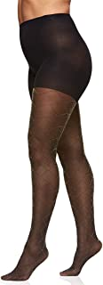 Women's Plus Size The Easy On Diamond Gold Lurex Control Top Tights