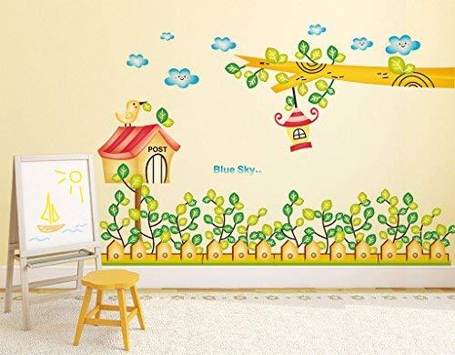 Presenta Sataanreaper Plantas De Dibujos Animados Postales Y De Branch con Lámpara Colgante' Etiqueta De La Pared (PVC Vinilo, 70 Cm X 50 Cm), Multicolor # SR-256