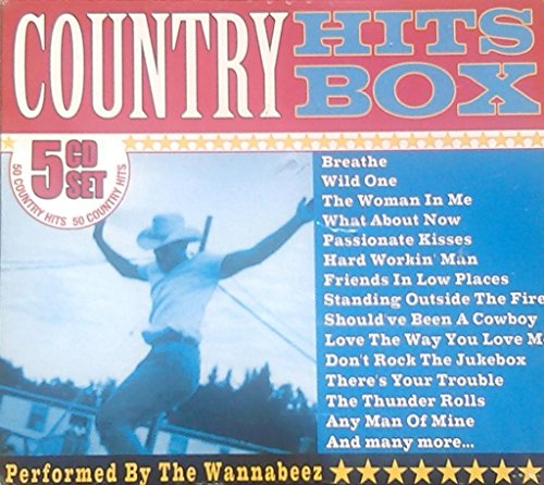 Country Hits Box 5 Cd Set Performed By the Wannabeez