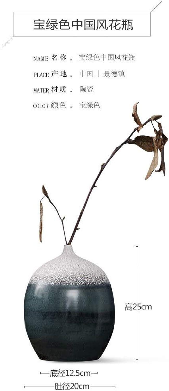 WANGZHAO Fleurs Vintage Vase Céramique Zen D'OrneHommests, Inserts Simples Décorations Modernes Salon Maison De Thé