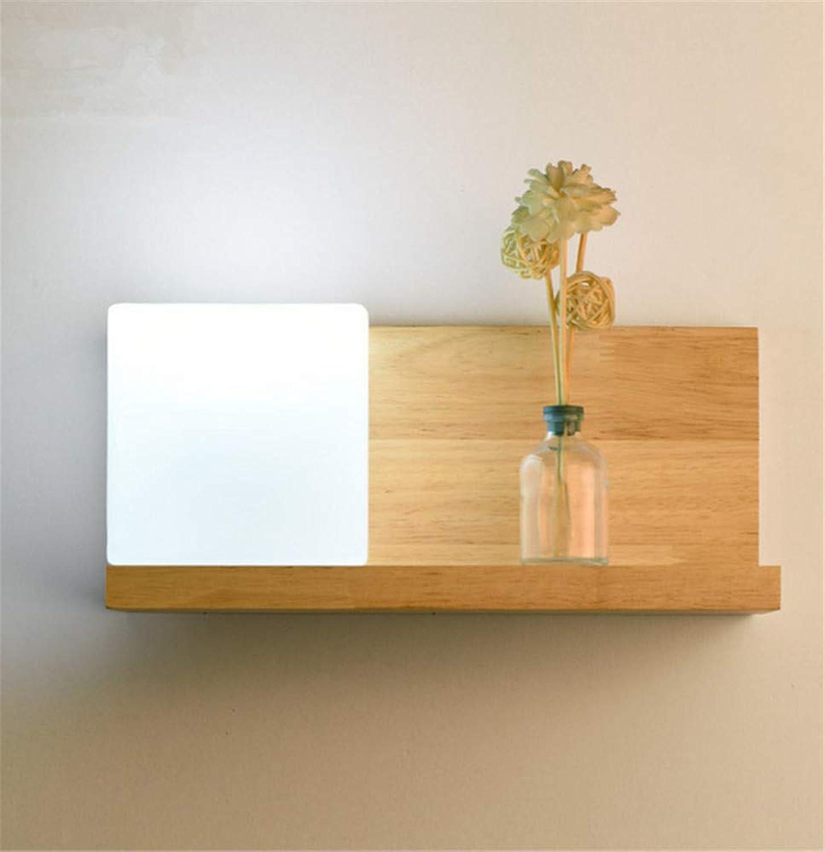 Log Wandleuchte modernen minimalistischen Persnlichkeit TV Wand Schlafzimmer Nachttischlampe aus Holz 30  14CM, links