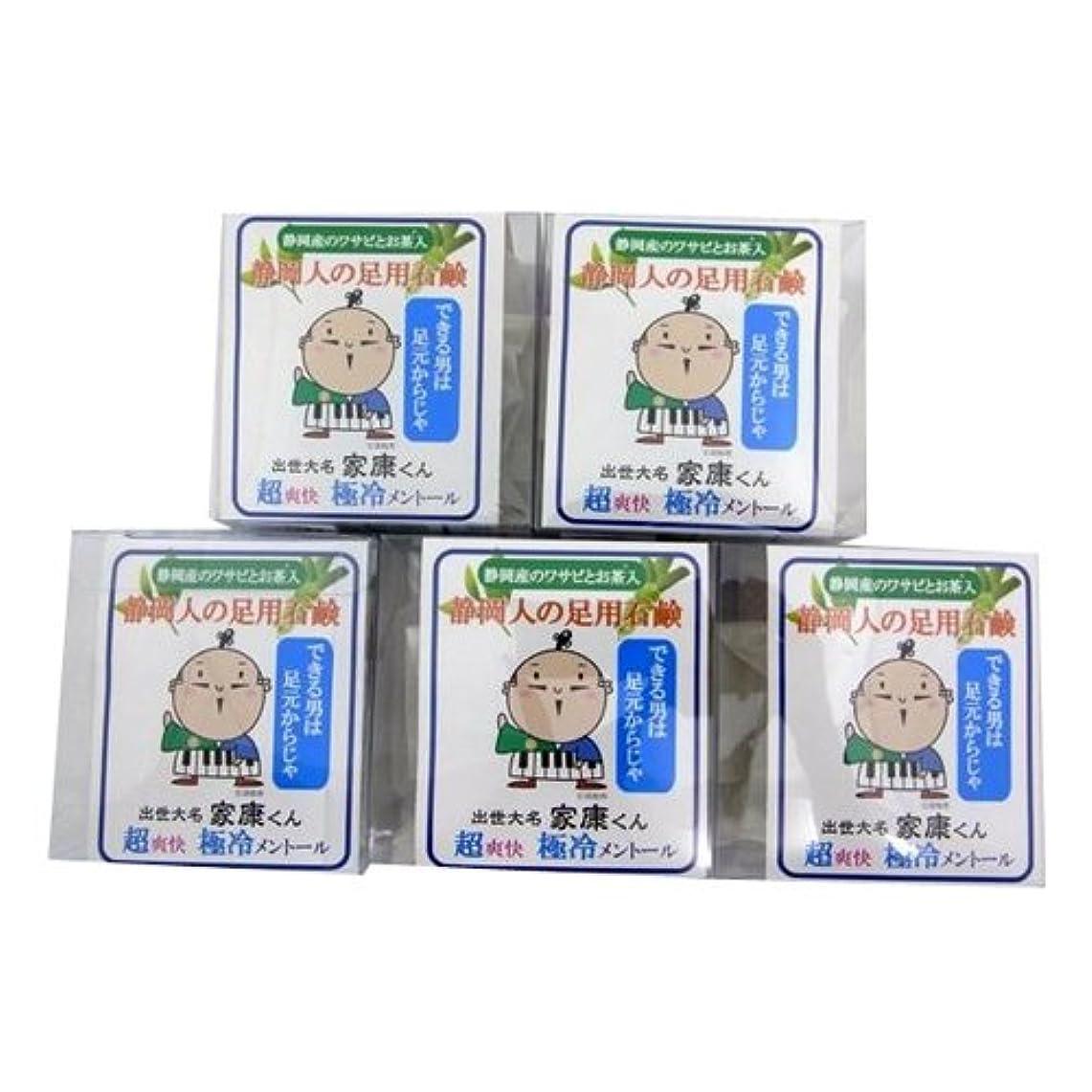 間隔ミキサー変えるエコライフラボ 静岡人の足用石鹸60g (ネット付) 5個セット
