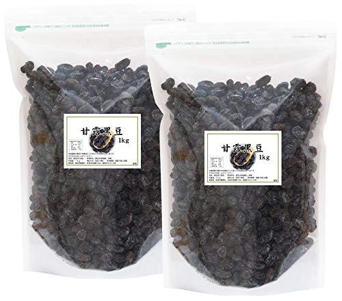 自然健康社 国産・甘露黒豆 1kg×2個 チャック付袋入り