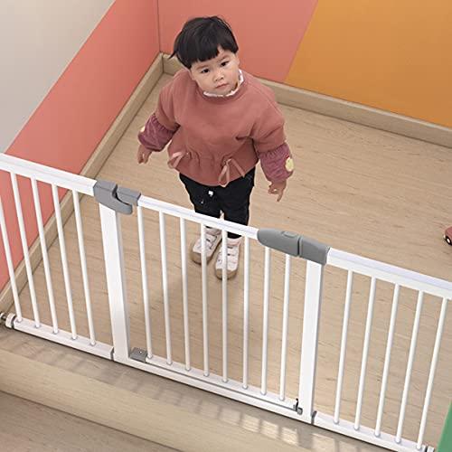 Fence- Baby Pets Niños Puerta de Seguridad Guardrail Pedal Protección de Seguridad Escalera Fija Junta para Cerca de Puerta Extra Ancho Altura 76cm (Tamaño: 97-104cm)