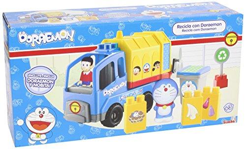 Doraemon - Camión de Reciclaje, Multicolor (Simba 4577178)